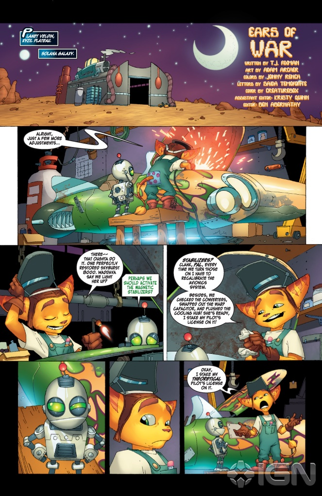 issue 1 - ratchet  u0026 clank  2010  - comics