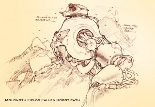 Molonoth Fields - Fallen Robot Path
