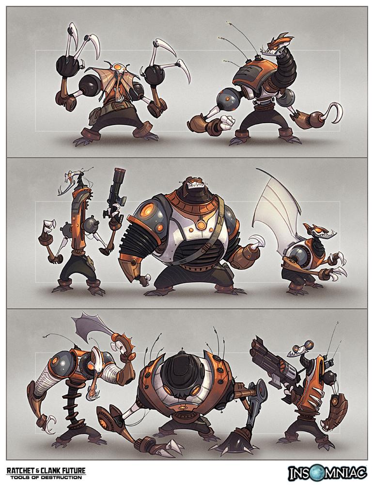 Enemies Artwork Ratchet Clank Future Tools Of Destruction