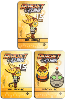 Ratchet & Clank 15th Anniversary Pin Set (limited)