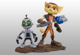 Prototype de statuette Ratchet & Clank All 4 One